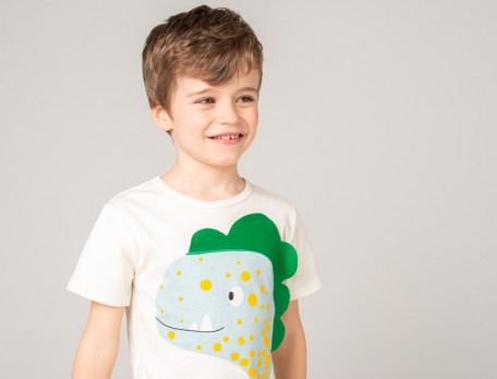 Kinderpyjama - kurz Dinosaurier-Aufdruck Dino-Universum