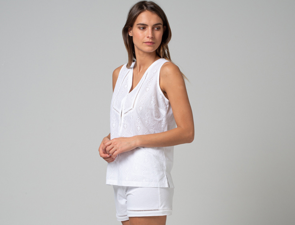 Pyjama-kurz Große Liebe Baumwolle Linvosges