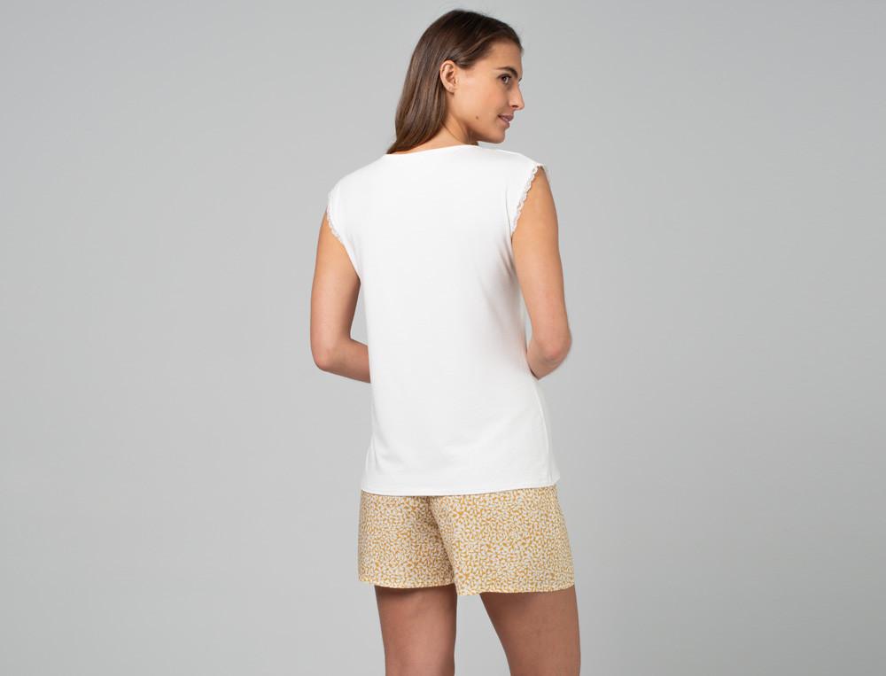Pyjama kurz Künstlergarten aus 100% Viskose