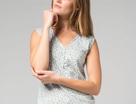 Pyjama-kurz Smaragd Baumwolle Linvosges