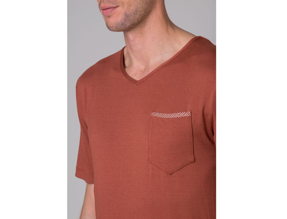 Pyjama kurz Toronto Baumwolle Linvosges