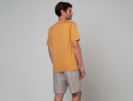Pyjama - kurz Träumer Baumwolle Linvosges
