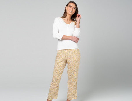 Pyjama lang Künstlergarten 100% Viskose