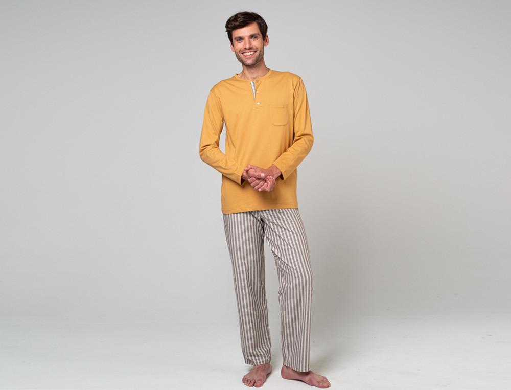 Pyjama - lang Träumer Baumwolle Linvosges