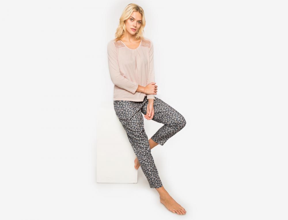 Pyjama imprimé et jersey Lumière d'Orient