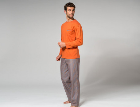 Pyjama Manhattan Baumwolle Linvosges