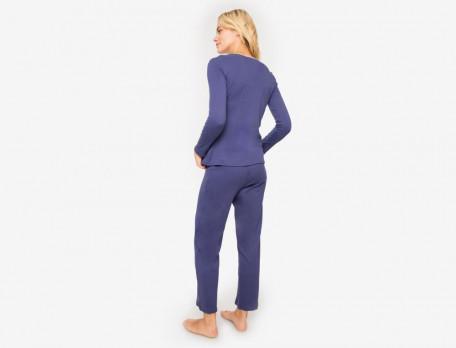 Pyjama Maren Linvosges Jersey Baumwolle