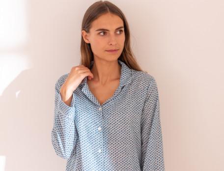 Pyjama en voile de coton Marjorie