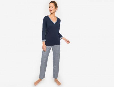 Pyjama Mitternachtsblau Viskose