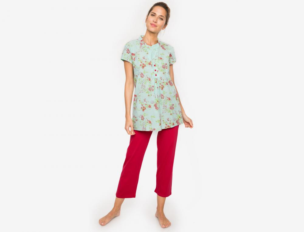 Pyjama Ornella Linvosges Jersey Baumwolle
