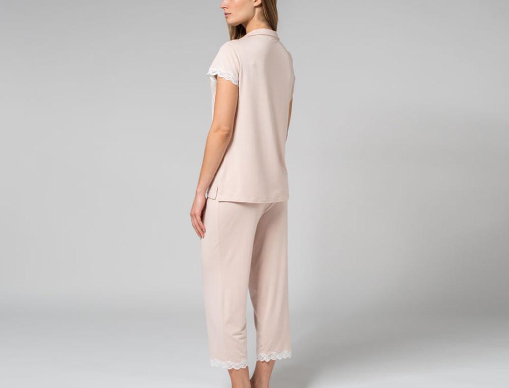 Pyjama Rosenblüte Jersey Linvosges