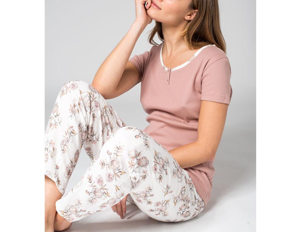 Pyjama Sanfter Morgen Baumwolle Linvosges
