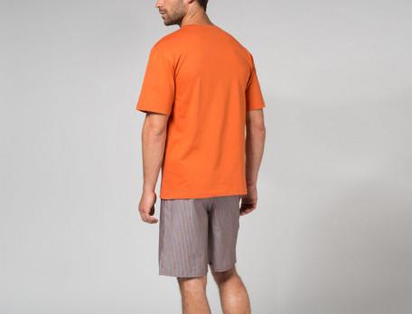 Pyjama short homme 100% coton À Manhattan
