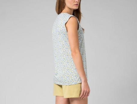 Pyjama short jersey imprimé et maille unie Tourmaline