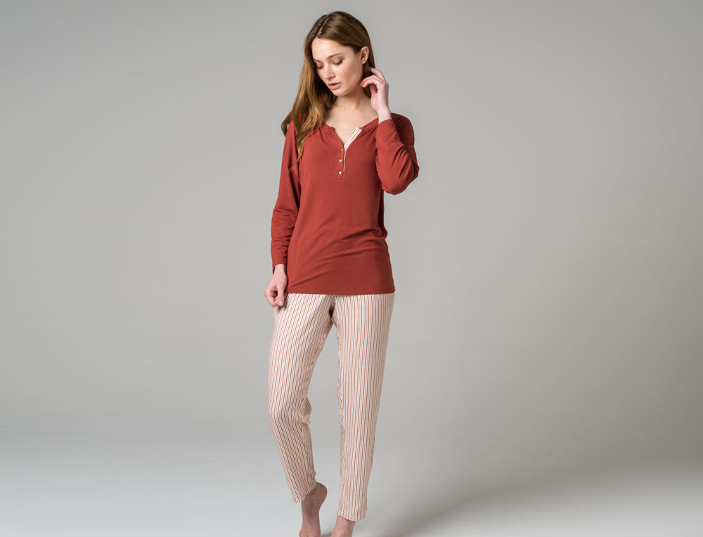 Pyjama Tiramisu Viskose Linvosges