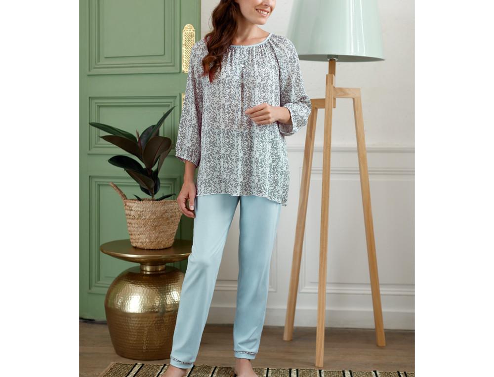 Pyjama Wasserblau Linvosges