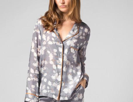 Pyjama Wintertag Viskose Seidenoptik Linvosges