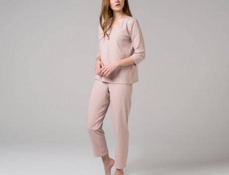 Pyjama Zarte Punkte Jersey Linvosges