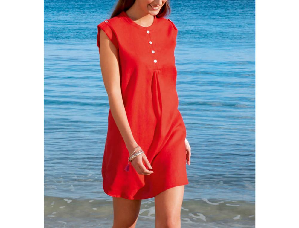 Robe de plage 100% lin Biscarosse