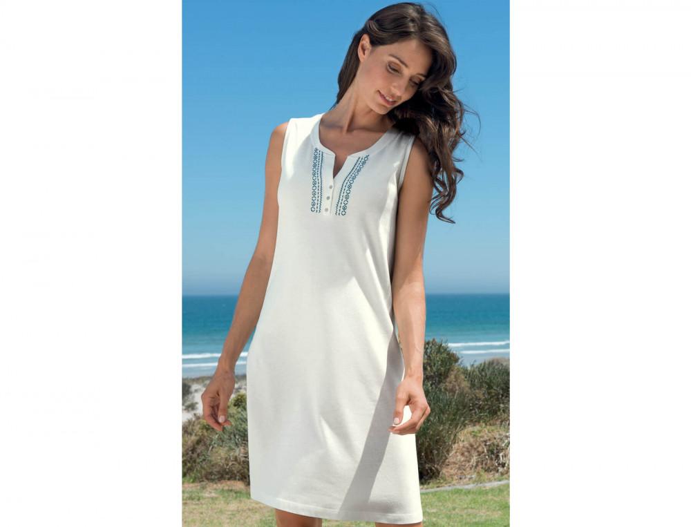Robe de plage unie Les galets de Collioure