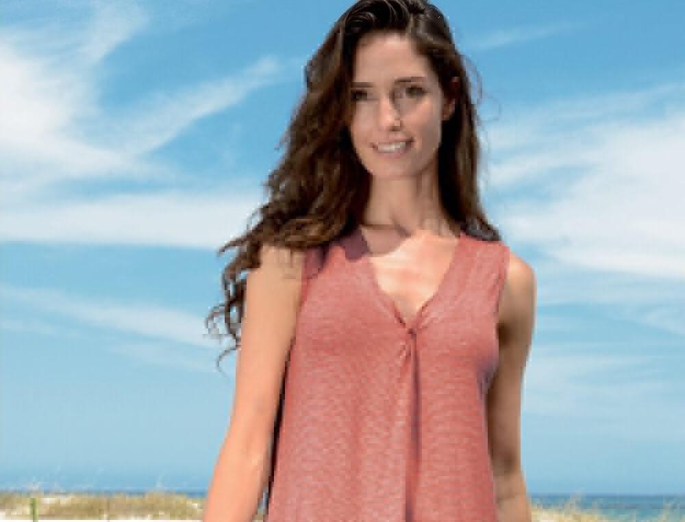 Robe de plage rayée tissé-teint Pyla