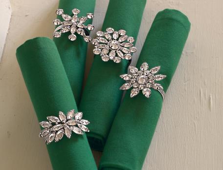 Ronds de serviettes en métal Roi des forêt