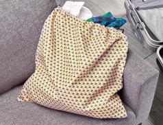 Sac à linge polyester Tressage graphique