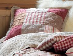 Boutis patchwork et chambray Saint-Gervais