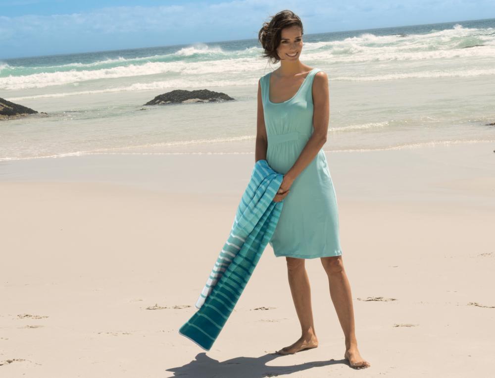 Robe de plage unie Santorin