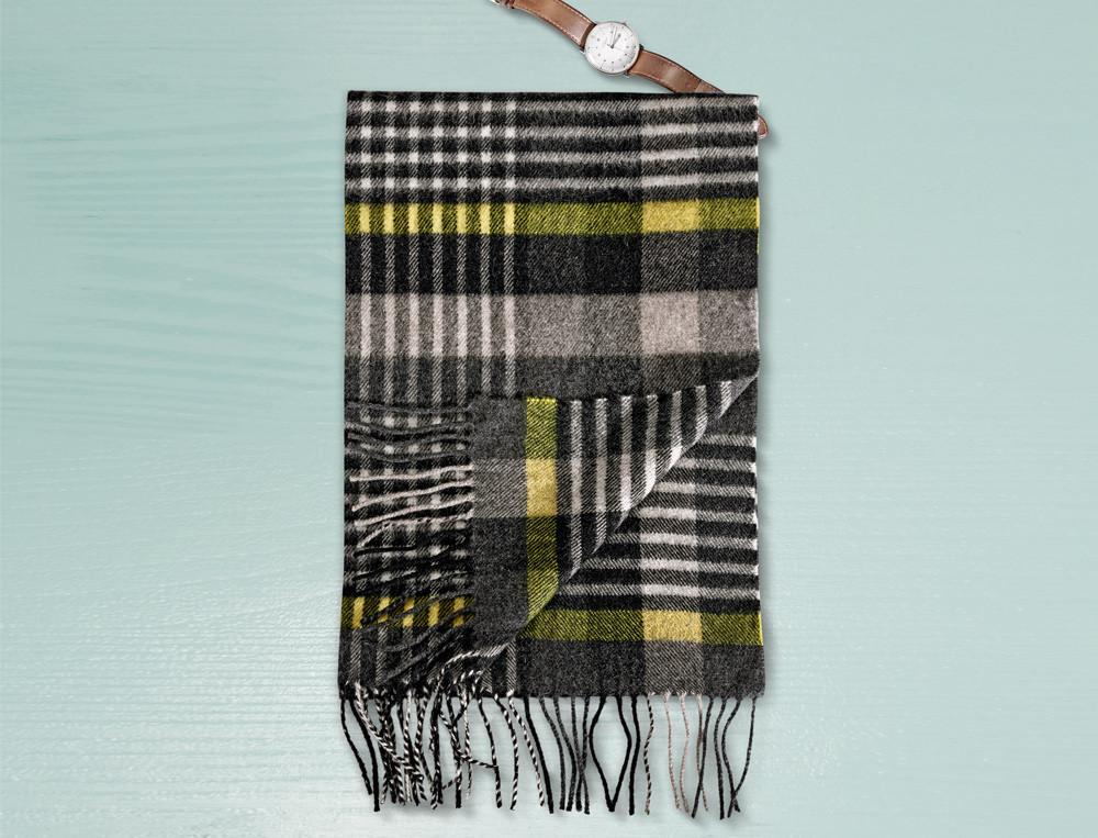 Schal für Ihn Lichtkegel Merinowolle Linvosges