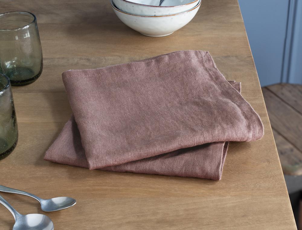 Serviettes de table Lin lavé