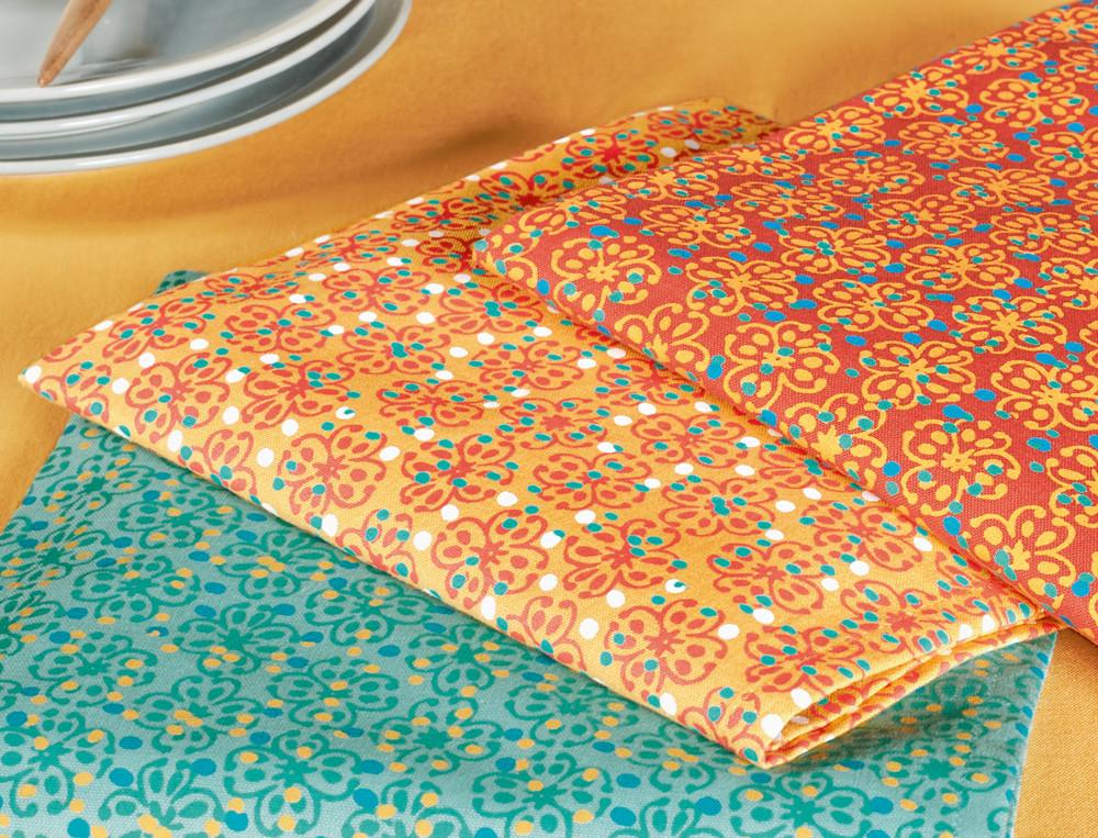 2 serviettes de table imprimées Sous les parasols