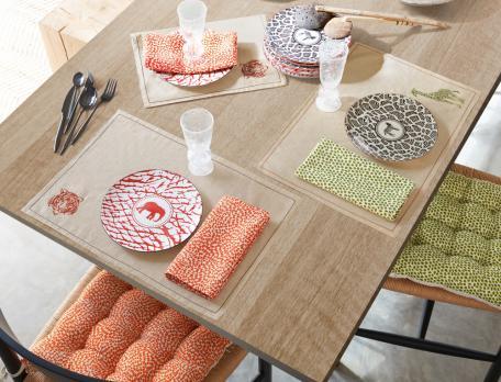 2 serviettes de table imprimées Le Lodge