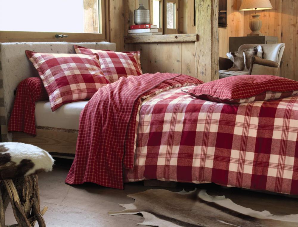 linge de lit flanelle Linge de lit Sestrières   Linvosges linge de lit flanelle