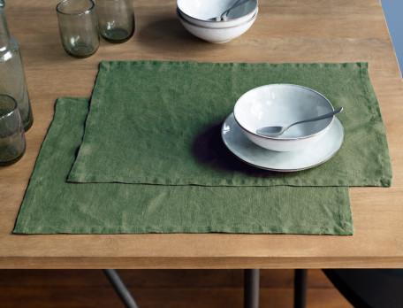 Set de table aspect froissé 4 couleurs au choix Lin lavé
