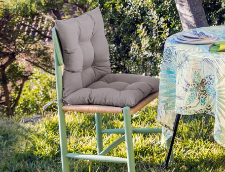 Sitzauflage für Gartenstühle einfarbig UV-Schutz Fleckschutz Tropischer Garten