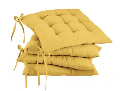 Sitzkissen einfarbig Farbtupfer Baumwolle