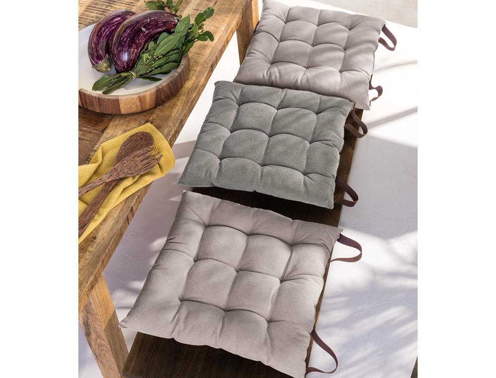 Sitzkissen-Set abnehmbare Lederschlaufen Gartenparty