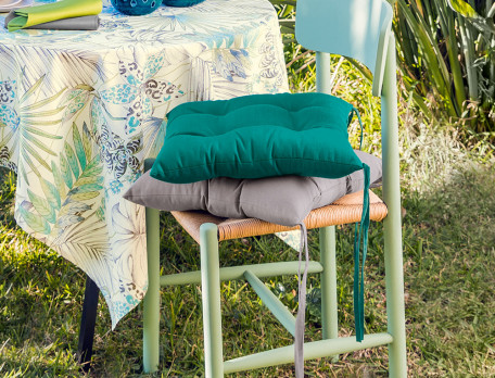 Sitzkissen einfarbig UV-Schutz und Fleckschutz Tropischer Garten