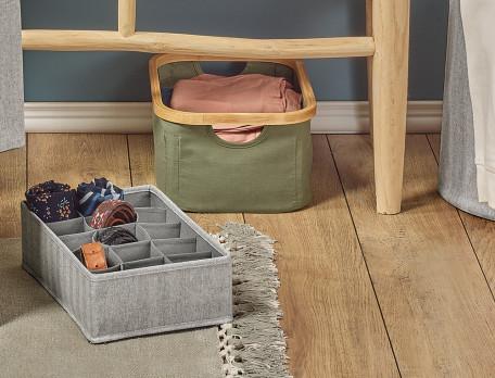 Sortierbox aus Polyester und Baumwolle
