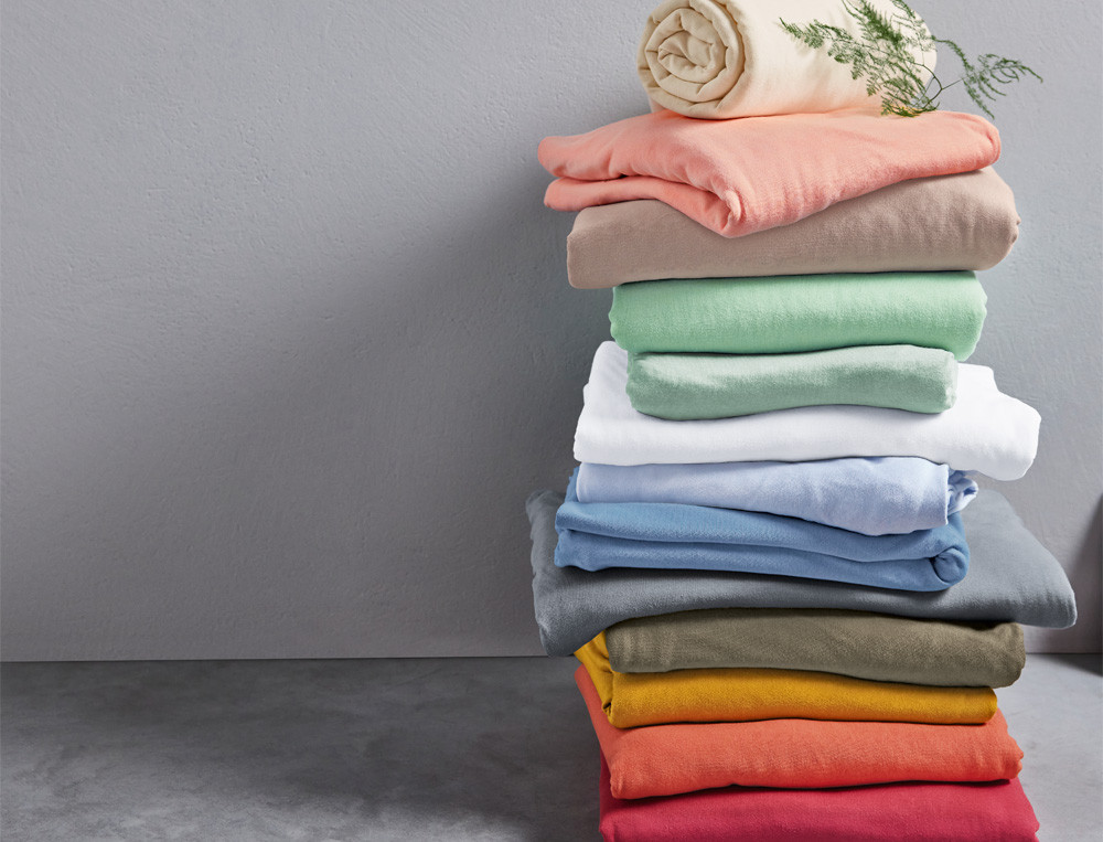 Spannbettlaken einfarbig Jersey