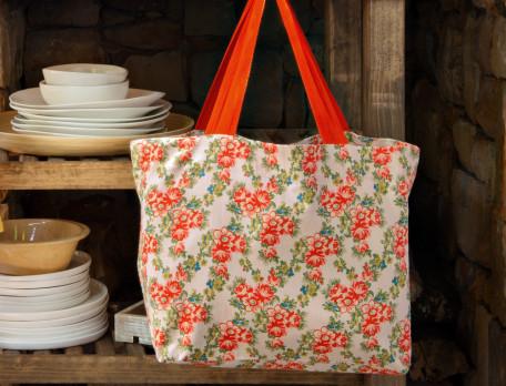 Stofftasche Blumenbeet Baumwolle Linvosges