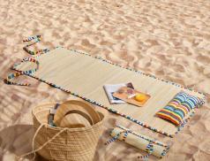 Strandmatte Atlantikküste Stroh Linvosges