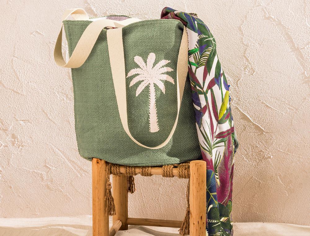Strandtasche bestickt Baumwolle Badebucht