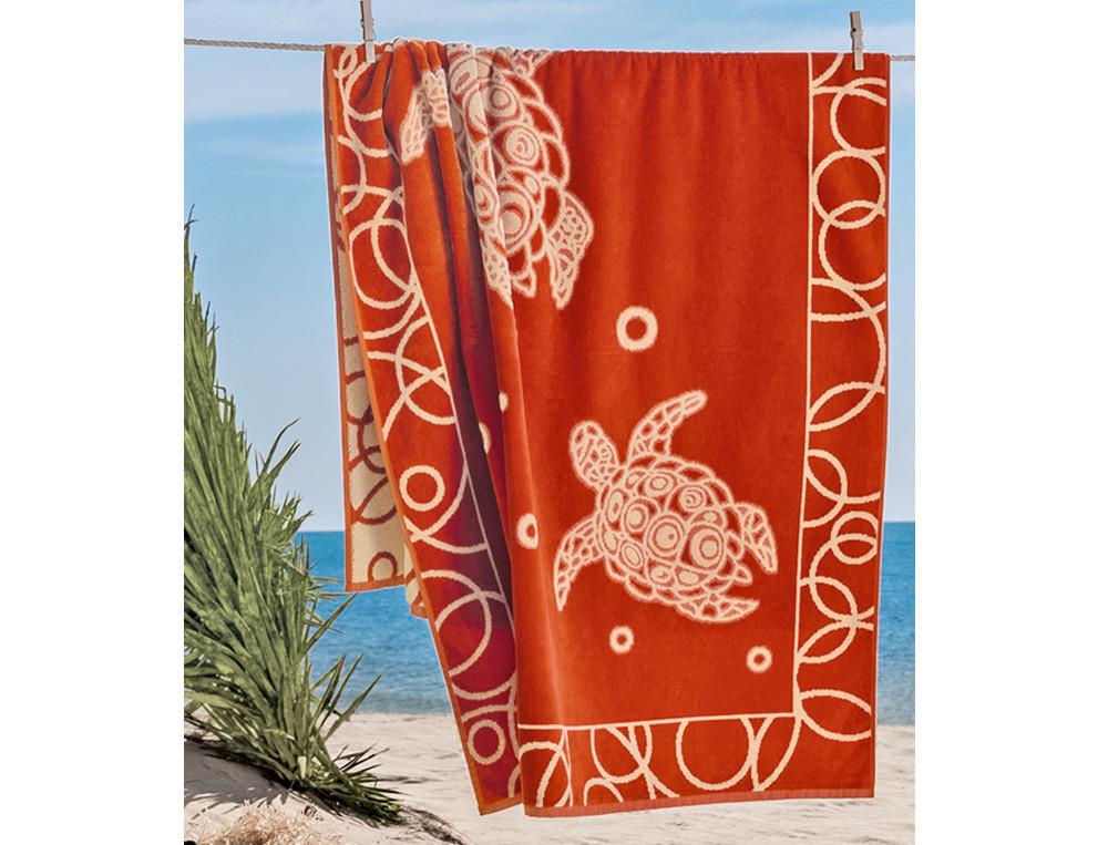 Strandtuch Motiv Kleine Bucht Baumwolle Linvosges