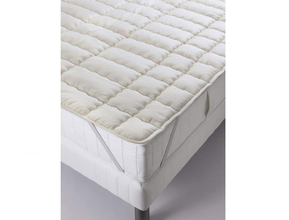 Surmatelas forme plateau Confort laine 600g/m2