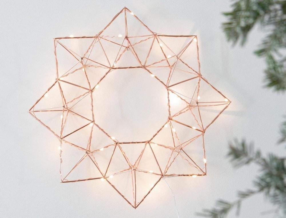Suspension lumineuse étoile en métal
