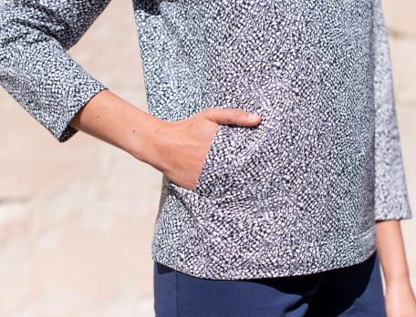 Sweatshirt Molton Gemustert In Bewegung