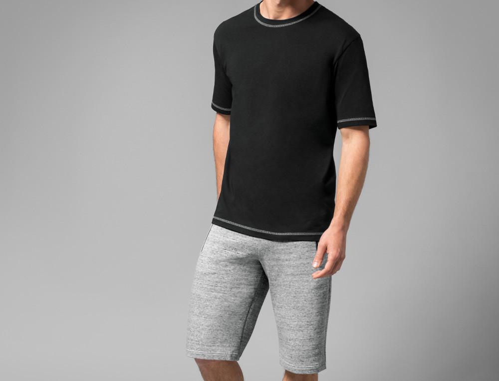 T-shirt jersey uni noir Au vestiaire
