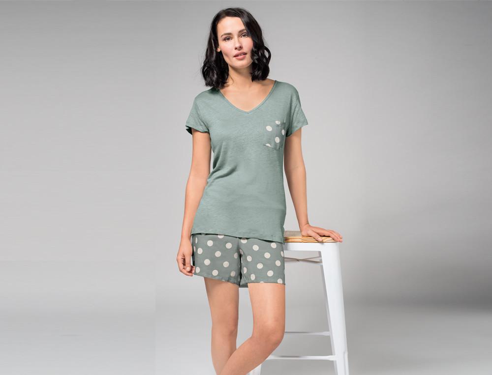 T-Shirt Punktlandung Leinen Linvosges